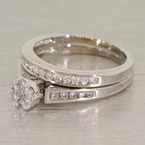 Scintillating Diamond Wedding Set 14K White Gold