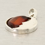 Modern Estate Amber 35MM Half Moon Pendant Jewelry