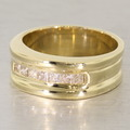Stunning 14K Yellow Gold Diamond Wedding Band