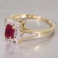 Lovely Ruby Diamond 14K Yellow Gold Fashion Ring