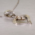 Lovely Heart Shape Diamond 14K White Gold Necklace