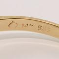 Charming Ruby Diamond 14K Yellow Gold Fashion Ring