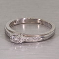 Beautiful Vintage Estate White Gold Diamond Ring