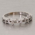 Stunning 18K White Gold Diamond Fashion Ring