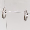 Terrific White Gold Round Brilliant Diamond Hoop Earrings