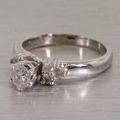 Beautiful Sparkling Diamond Platinum Engagement Ring