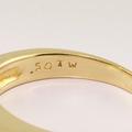 Splendid Invisible Set Diamond 14K Yellow White Gold Engagement Ring