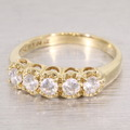 Wonderful Cubic Zirconia 14K Yellow Gold Fashion Band