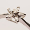 Charming Diamond Star Fashion Ring 14K White Gold