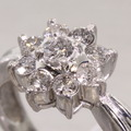 Dazzling  Ladies Vintage Heirloom Platinum Flower Diamond Engagement Ring