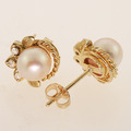 Magnificent Pearl Yellow Gold Matching Set