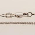 Classic Ladies 18K White Gold 3 Stone Round Diamond Pendant Jewelry