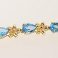 Breathtaking Classic 10K Yellow Gold TopazJewelry  Tennis Bracelet Earring Set