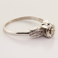 Antique 14K White Gold Diamond Engagement Right Hand Ring Jewelry