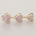 Lovely Vintage 10K Yellow Gold Diamond 0.40CTW Heart Dangling Pendant Jewelry