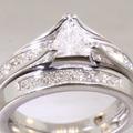 Love Story Ladies 14K White Gold Diamond Wedding Set