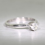 Timeless Classic Diamond Solitaire 14K White Gold Engagement Ring