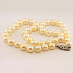 Classic Ladies White 8mm Round Pear Necklace Choker