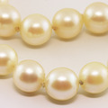 Classic Ladies White 8mm Round Pearl Necklace Choker Jewelry