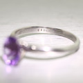 Beautiful Ladies 14K White Gold Oval Amethyst Solitaire Engagement Ring