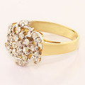 Dazzling Vintage Ladies 14K Yellow Gold Round Diamond Twirl  Ring