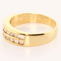 Alluring  Vintage Ladies 18K Yellow Gold Round Diamond Anniversary Band Ring