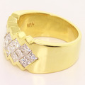 Stunning Ladies 18K Yellow Gold Princess Invisible Set Diamond Anniversary Band