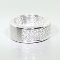 Stunning Ladies 18K White Gold Diamond King Fook Anniversary Eternity Band