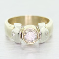 Modern Ladies 14K Yellow White Gold Diamond 1.34CTW Engagement Ring Jewelry
