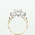 Dazzling Ladies 14K Two Tone Princes Diamond Past Present Future Engagement Ring