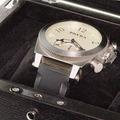 Brera Orologi Mens Stainless Steel Watch White Face Rubber Bracelet