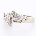 Elegant Ladies Vintage Estate 10K White Gold Marquise Diamond Engagement Ring