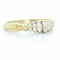 Dazzling Ladies Vintage Estate 14K Yellow Gold Round Diamond Cluster Ring
