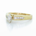Spectacular Ladies Vintage 14K Yellow Gold Marquise Diamond Engagement Ring
