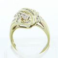 Beautiful Ladies Vintage 10K Yellow Gold Diamond Cluster Right Hand Estate Ring