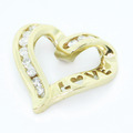 Dazzling Ladies 10K Yellow Gold Diamond 0.32CTW Heart Love Pendant Jewelry