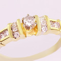 Stunning Ladies Vintage 14K Two Tone Round Diamond Engagement Ring