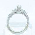 Dazzling Ladies Vintage 14K White Gold Diamond Engagement Ring Wedding Band Set