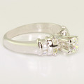 Spectacular Ladies Vintage 18K White Gold Round Diamond Engagement Ring
