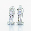 Unique 14K Yellow White Gold Diamond Earrings French Clip