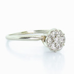 Lovely Diamond White Gold Cluster Ring