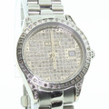 Dazzling Croton Ladies Stainless Steel Diamond Bezel Face Date Watch