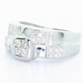 Spectacular Ladies 14k White Gold Round Diamond Ring
