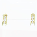 Stunning Vintage Ladies 14K Yellow Gold Huggie Diamond 0.50CTW Earrings Jewelry