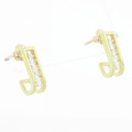 Classic Estate Ladies 14K Yellow Gold Huggie Diamond 0.50CTW Push Back Earrings