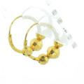 Gorgeous Ladies 18K Yellow Gold Huggie Hoop Style Earrings