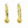 Gorgeous Ladies 18K Yellow Gold Huggie Hoop Style Earrings