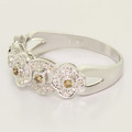New Antique Inspired Womens 14K White Gold Chocolate Diamond 1/2CTW Ring Band