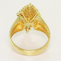 Spectacular Ladies Vintage 14K Yellow Gold Round Diamond Cluster Estate Ring