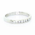 Lovely 14K White Gold Diamond Wedding Ring